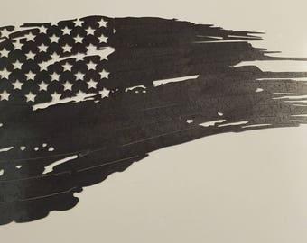 "4001- Tattered American Flag (21""x35"")"