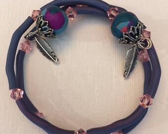 Multi-Color Polymer Clay Bangle Bracelet