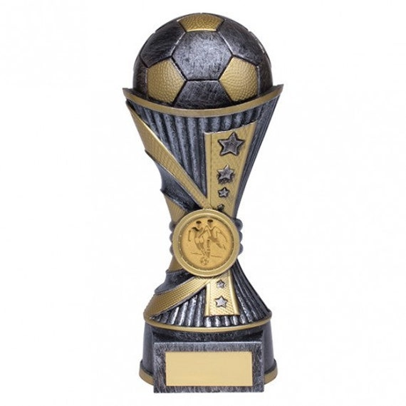 Football Trophies Resin Football Star Boot /& Ball Trophy 4 sizes FREE Engraving