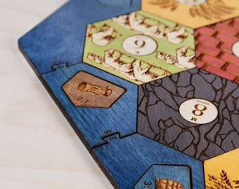 Wood Game Board | Classic | 3-4 or 3-6 Player, Laser Cut, Personalized