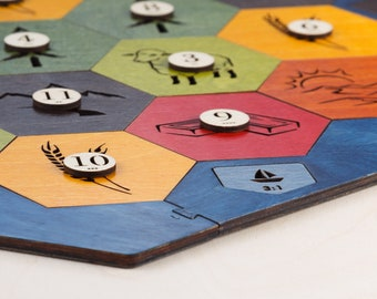 Wood Game Board | Essential Plus | 5-6 Player Extension (Add-on), Laser Cut, Personalized