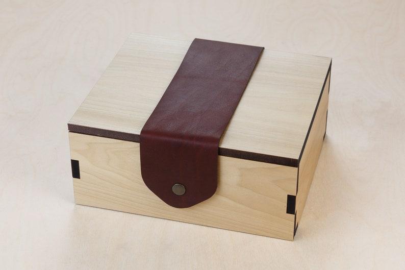 Box for Wood Game Board  Exotic Hardwood Custom Wood Laser image 0