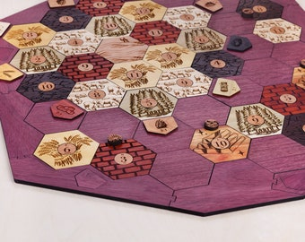 Wood Game Board *Seafarers* Expansion | Exotic Hardwood | 3-4 or 3-6 Player, Laser Cut, Personalized