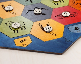 Wood Game Board | Essential Plus | 3-4 or 3-6 Player, Laser Cut, Personalized