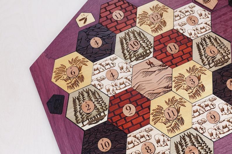 Wood Game Board Seafarers  Exotic Hardwood  5-6 Player image 0