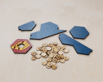 Wood Game Board *Seafarers* Expansion | Classic | 3-4 or 3-6 Player, Laser Cut, Personalized