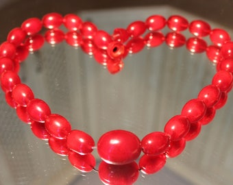 Vintage Art Deco Cherry Bakelite. Vintage bakelite beads necklace 80g.Faturan Beads Necklace.
