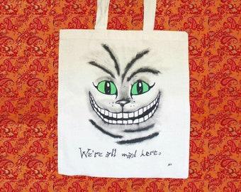 Cheshire Cat / Alice in Wonderland tote bag