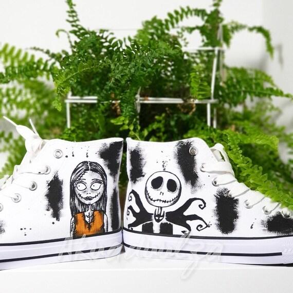Pesadilla antes de Navidad zapatos pintados a mano Jack y Sally