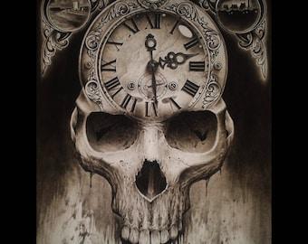 Skull Clock [ print ]