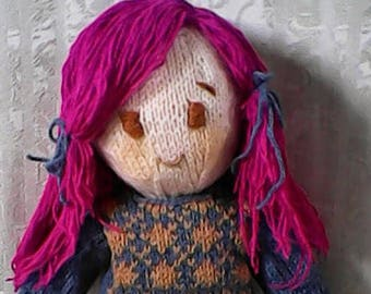 Emiko handknit doll with clothes