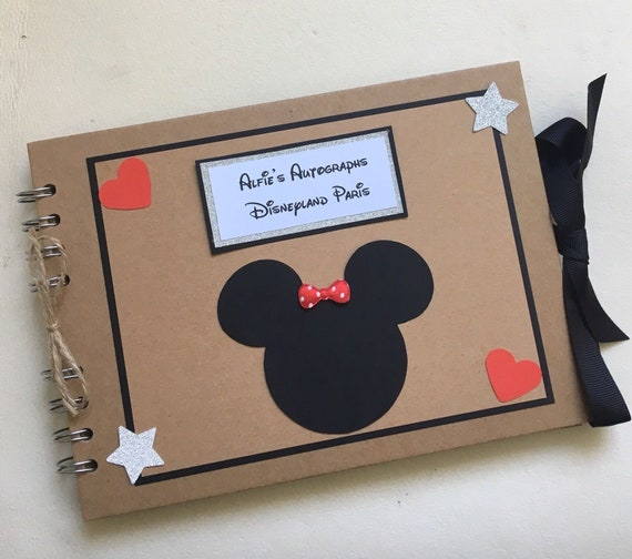 Personalised Disney Autograph Book Scrapbook Photo Album Etsy
