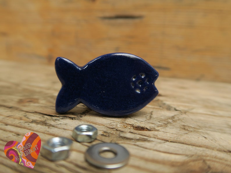 Furniture Knob On Fish Knopp Hand Copped Etsy