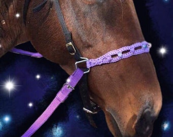 Beautiful handwoven beaded bitless attachment (can also come as a noseband for regular bridles )
