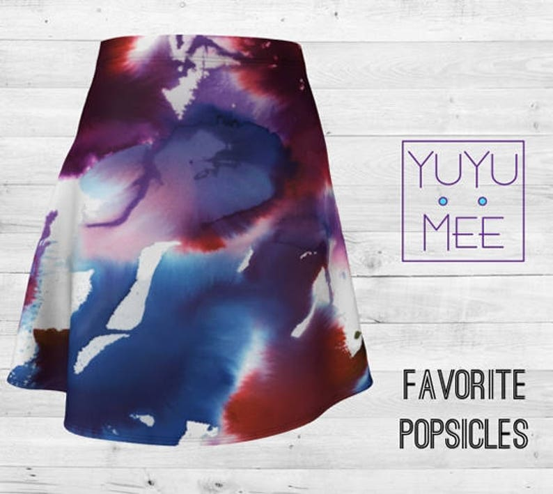 FAVORITE POPSICLES Women/'s Modern Flare Skirt