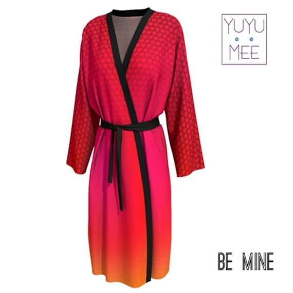 Valentines Day Men/'s Women/'s Short Kimono Robe Bypass