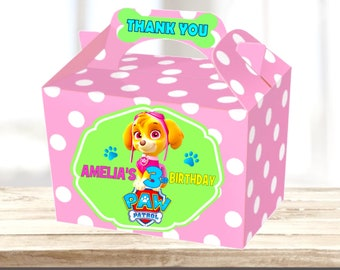 Paw Patrol Birthday Party Treat Sweets Lunch Gift Box Personalised X 1