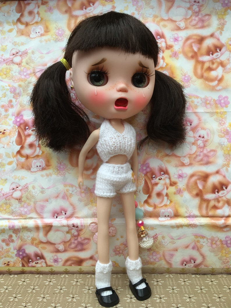 Blythe Vintage Underwear Set Nanna Knits /' Dress Me Up Set /'    Free Shipping