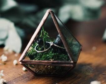 Ring holder Wedding Ring Box, Engagement ring box Ring Bearer Pillows, Proposal Ring Box Ring Bearer Box, Glass Ring Box