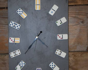 Fun domino clock a child's room or playroom