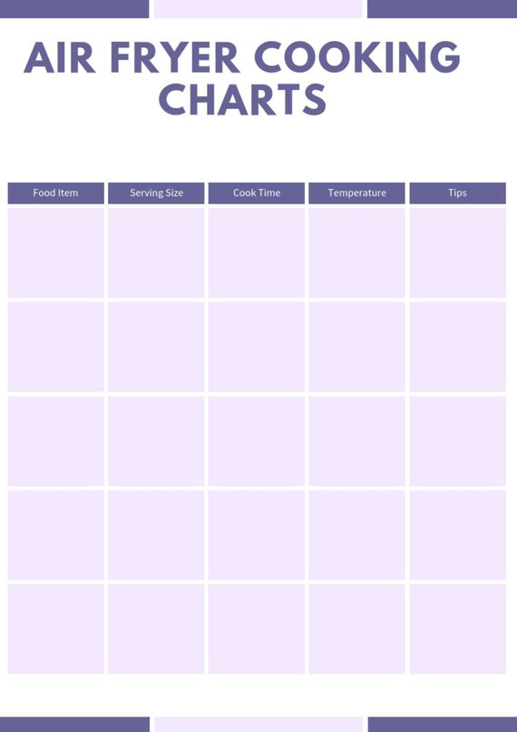photograph about Printable Air Fryer Cooking Chart identify Air Fryer Cooking Charts - Printable Cheat Sheets incorporates details for Beef, Chook, Pork, Seafood, and Veggies (New and Frozen)