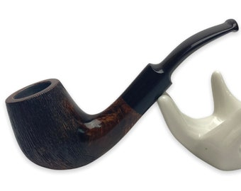 Beginner smoking pipe - briar wooden pipe - rusticated bowl - pipe for filter 9 mm - perosnalized gift for man smoker husband - tobacco pipe