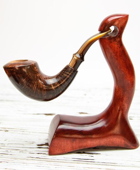 Briar Pipe - Horn Pipe - Briar Tobacco Pipe - Handmade Briar Pipe - Huge  Briar Wood Pipe - Collectible Artisan Pipe - Birthday Smoker Gift