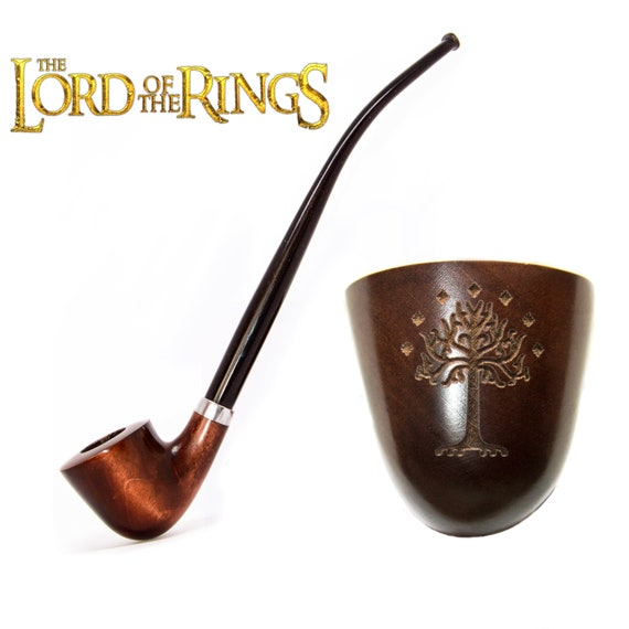 MacQueen The Dwarf Lord of the Churchwarden Tobacco Pipe Smoke Rings Ash Wood