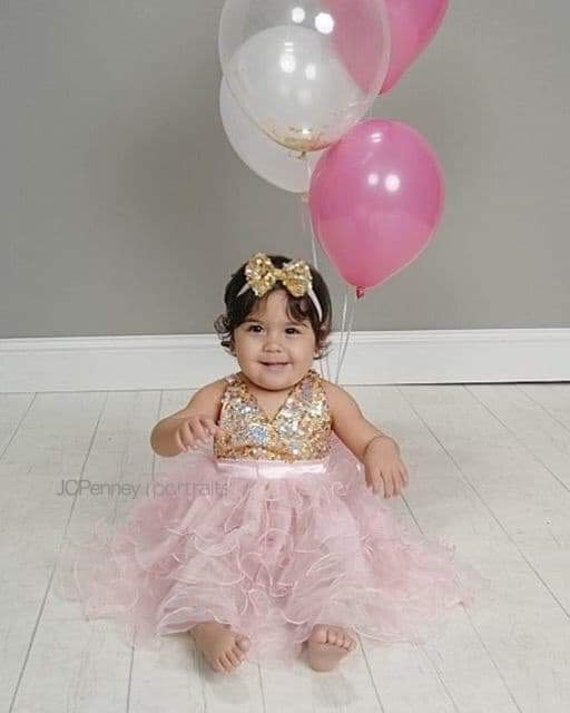 Alea Pink And Gold First Birthday Outfit
