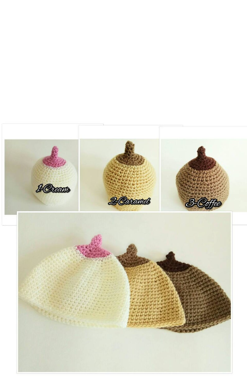 9cb56464438 Boobie beanie crochet breastfeeding boob hat fun and lovely