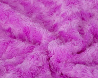 Super Luxury Faux Fur Fabric Material SWISS OLD ROSE