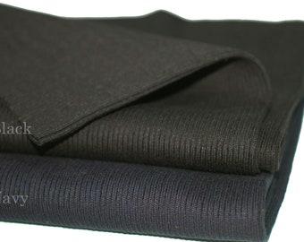 Rib Knit Cuff Waistband 2x2 Ribbing Fabric,Good Quality.Medium Weight,Cotton Lycra Elastic Stretch Cuffing Material.94cm Wide British Made