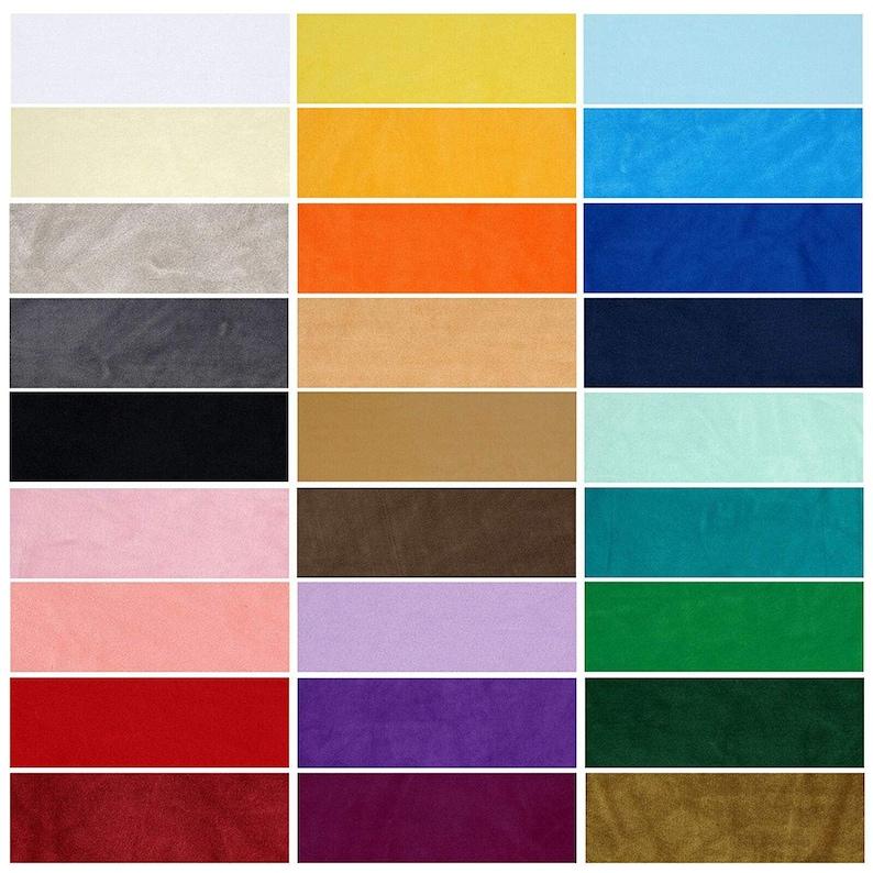 Velour Polar Fleece Anti Pill Quality Stretch Fabric28 image 0