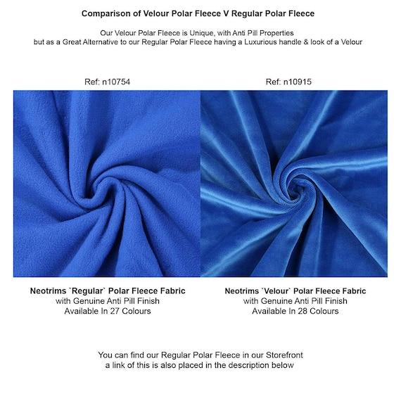 Calidad De Material Anti Pil Polar Tejido-AZUL REAL