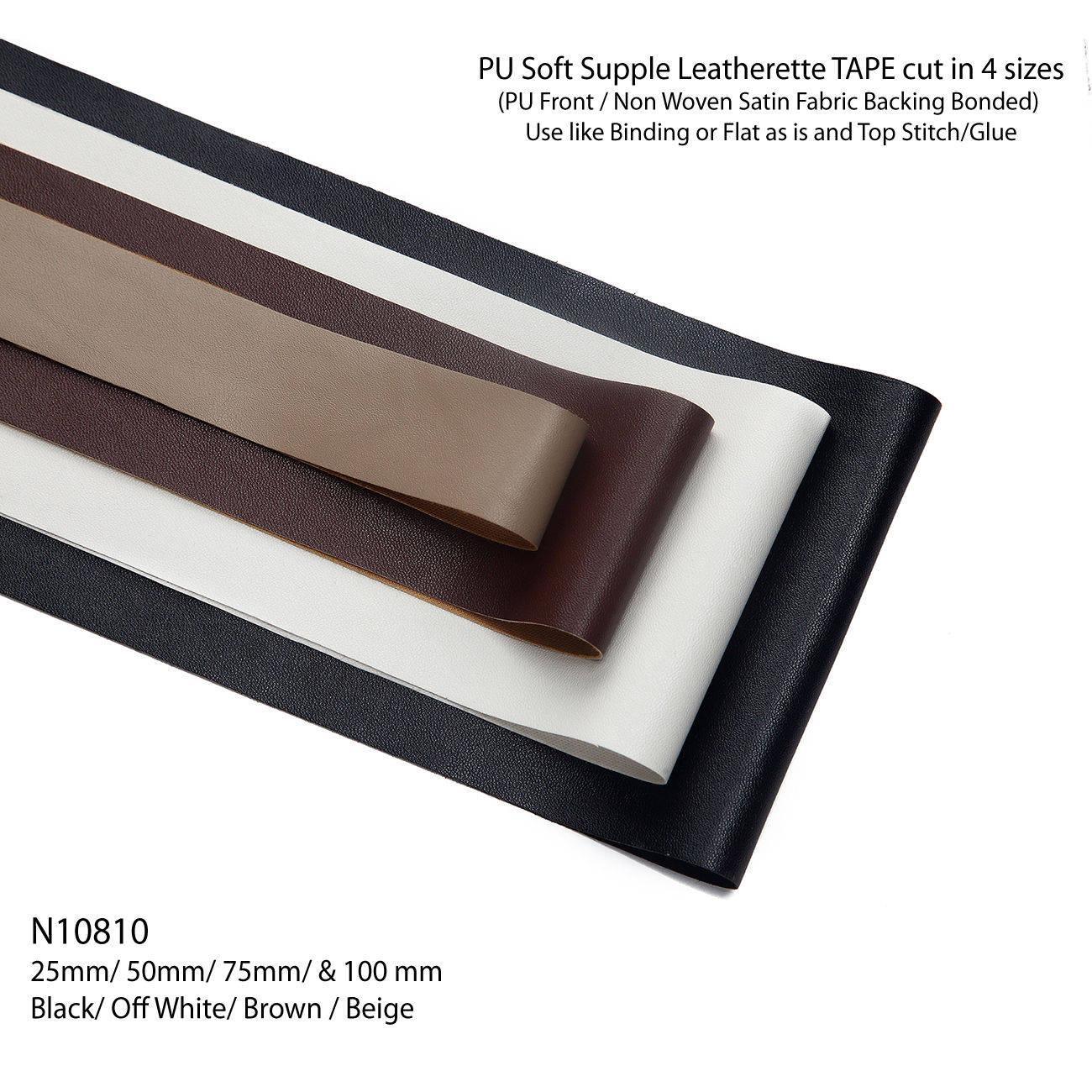 PU Faux Imitation Leather Cut Binding Flat Tape Trimming