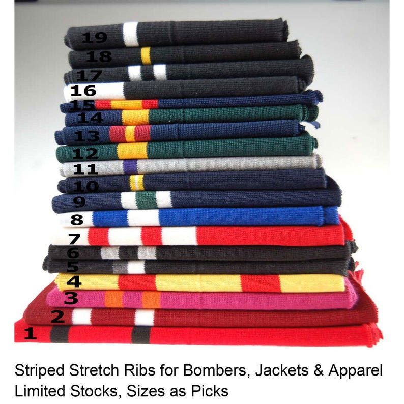 Waist Band /& Neck Band Ribs for Jackets Stretch Resilient Ribs. Luxurious Fine Quality Rib Fabric Panel Cuff Waistband Ribbed Trimming Bombers or Trim Dresses Neotrim Black Lycra Stretch Knit Rib
