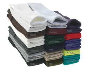 Rib Knit Trim Cuffing Fabric.Tubular Cuff Pair & Matching Waistband Ribbing.Complete Trimming Set for Whole Garment - Cuffs,Hem Neck Band