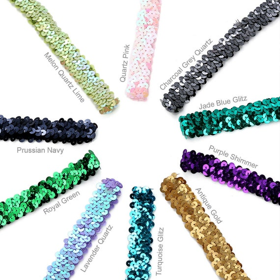 Square Sequin Ribbon Trimming Mesh Lace Decoration Border Trim Costume,Neotrims
