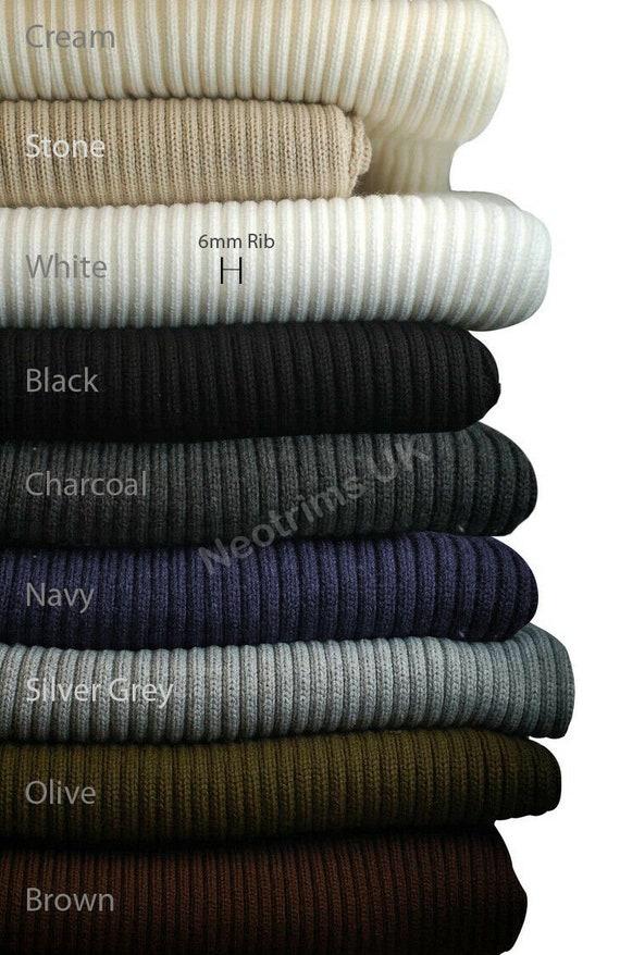 Bomber Jacket Trim 2x1 Cotton Rib with Spandex