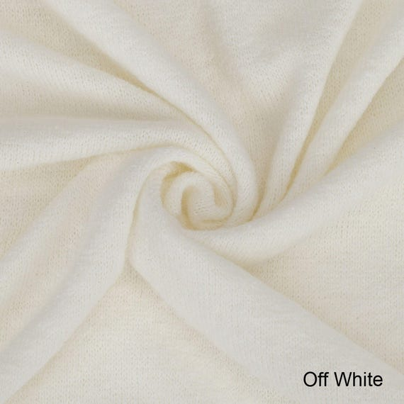 Fabric Brushed Jersey-Soft Knit-Plain in Black,Beige or Ivory Per Metres-UK Made