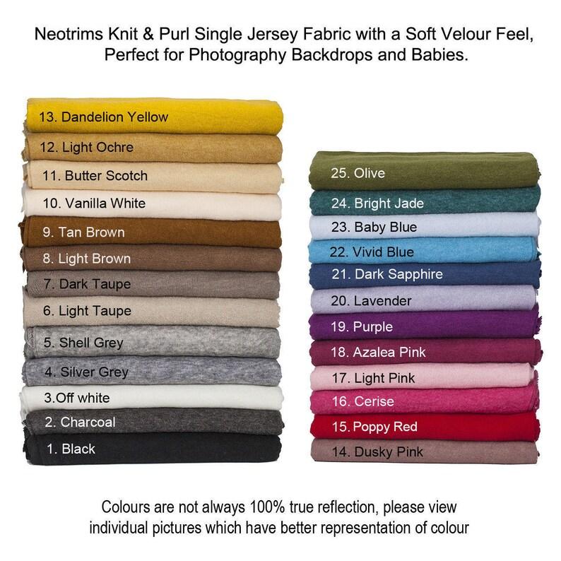 Soft Jersey Ribbed Knit FabricKnit & PurlSemi Brushed image 0