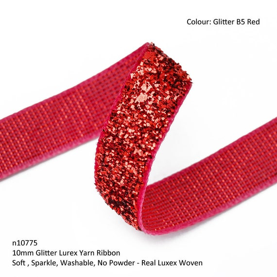 Silver Christmas Glitter Tape 3 Meters FREE 1st CLASS DEL £3.99 Gold /& Red