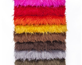 Faux Fur Fabric, Furry Sheep Wool, Photography, Fat Squares, 15 Colours, Quality Fabric & Material, Sewing and Crafts, Neotrims Textiles