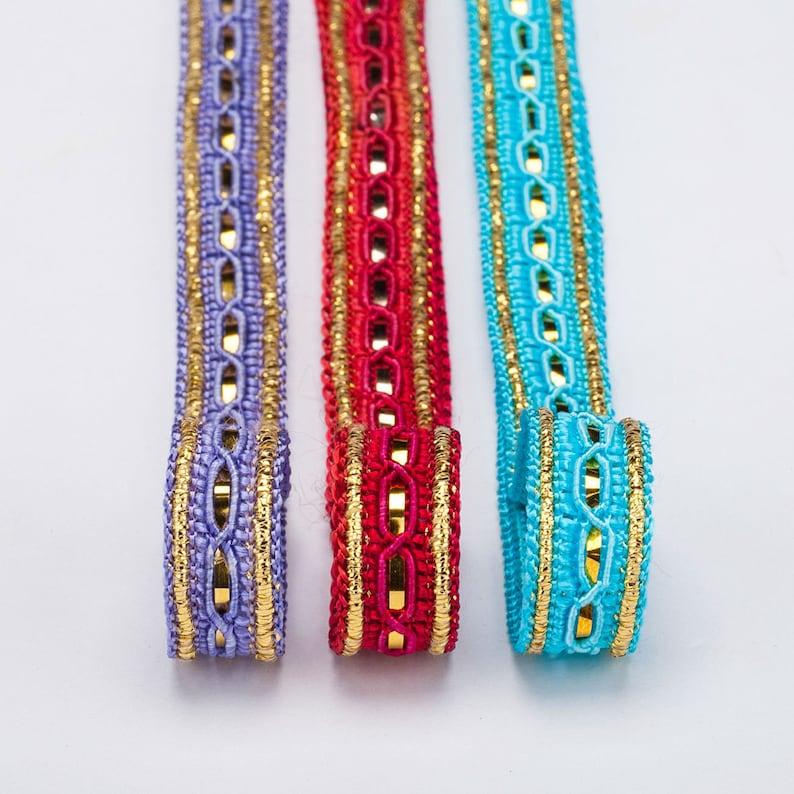 Brocade Style Edwardian Indian Ribbon Sari /& Salwar Crafts Trimming by the Meter