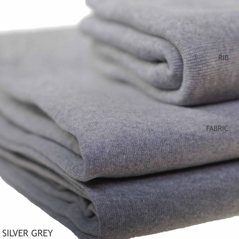 c09ba83b815 Silver Grey Sweatshirt Fleece Fabric Hoodies and Jersey | Etsy