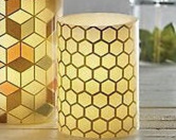 Honey Comb LED Candle, Home Decor, Flameless Candle, Unscented, House Warming Gift, Honey Comb LED Candle