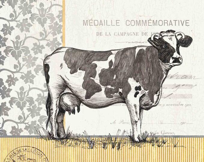 """Canvas Print - """"Vintage Cow"""""""