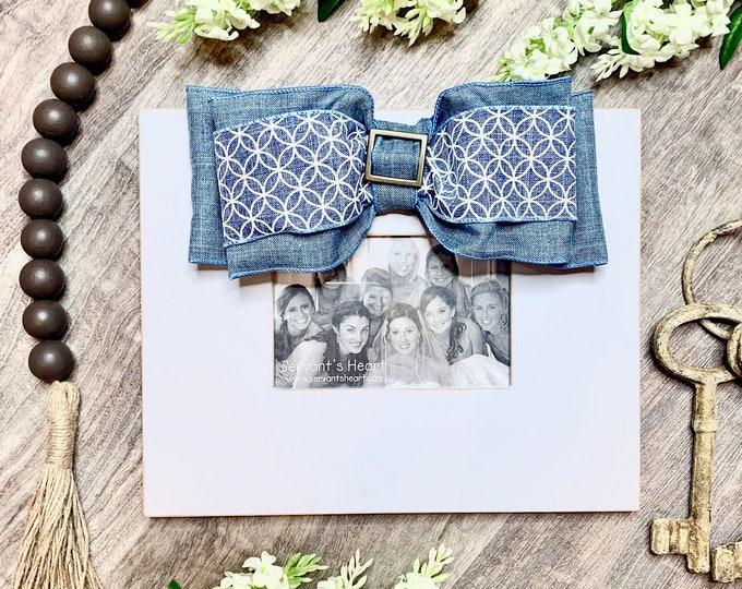 Blue and White Design Frame