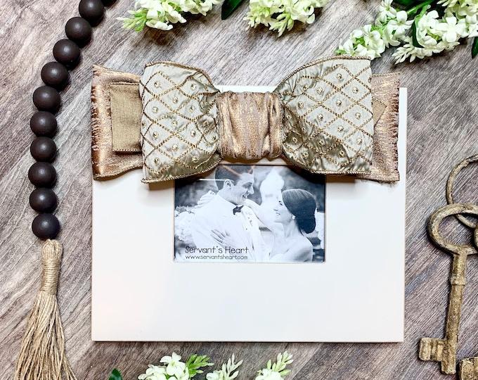 Dove and Gold Embellished Frame
