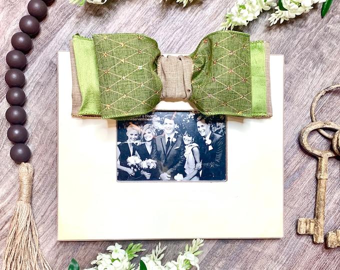 Green Embellished Frame